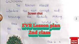 WBA 512 EVS Lesson Plan in English - The Most Popular High Quality