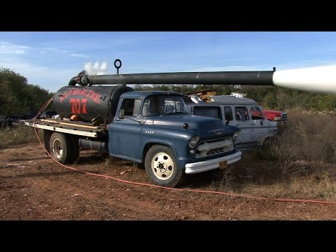 1955 Chevy PUMPKIN CANNON -vs- Old Vans