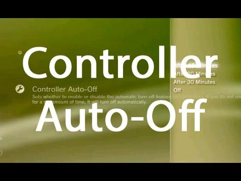 PS3 Power Save Settings Controller Auto-Off Tutorial