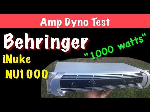 Behringer iNuke NU1000 Amp Dyno Test