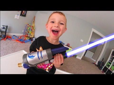 FATHER SON RAD 2 in 1 LIGHTSABER! / Epic Battle!