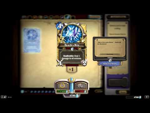 Death's Bite HD Hearthstone Naxxramas Golden Card Spotlight