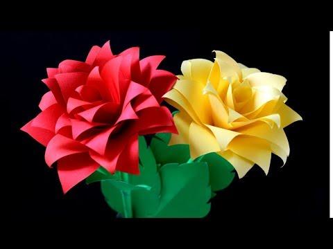 How Make Paper Flower :Flower Paper Craft |TUTORIAL| DIY
