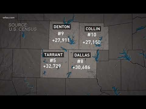 Census: DFW shows largest growth in the U.S.