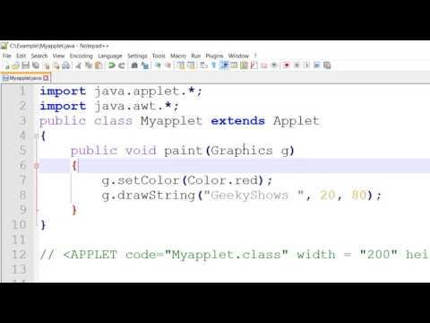 Font Color setColor in Java Applet (Hindi)