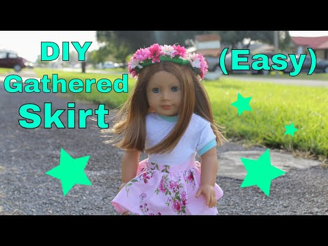 DIY Gathered Skirt for your American Girl Doll (Easy)
