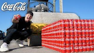 1000 CANS OF COKE vs ROAD ROLLER!! (COCA COLA vs ROAD ROLLER EXPERIMENT)