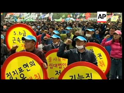 Labour Day protests in Hong Kong and South Korea