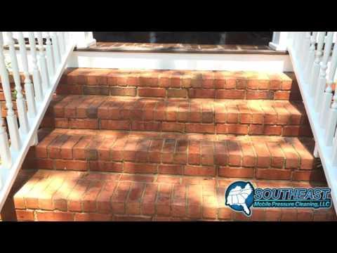 Front Porch and Brick Steps Pressure Washing Daniel Island, SC