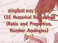 Download simplest way to solve CSE Numerical Reasoning: (Ratio and Proportion, Number Analogies) Part 3 MP3,3GP,MP4
