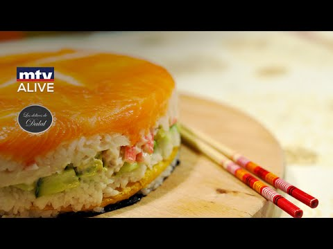How to prepare the sushi cake