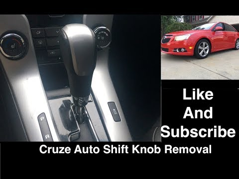 Chevy Cruze Automatic Shifter Knob Removal and Install