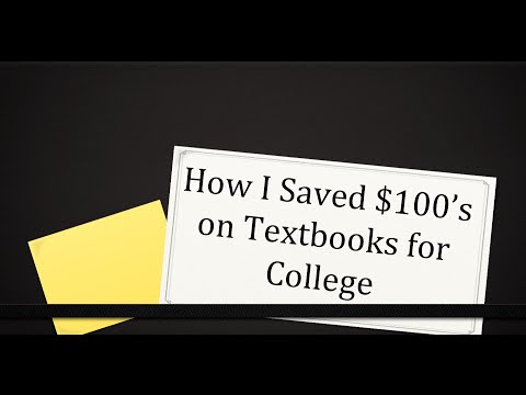 How to Save Money on Textbooks for College