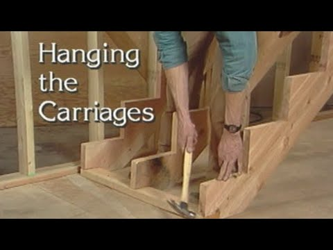 Hanging stringers for stairs. How to build stairs