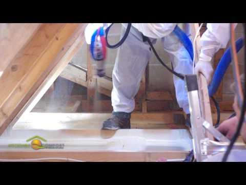 Installing Spray Foam on the Attic Floor