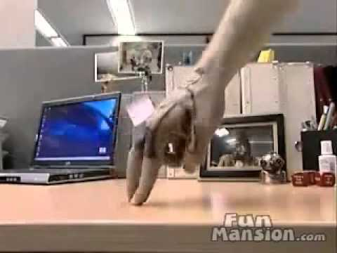 finger soccer skills cool video