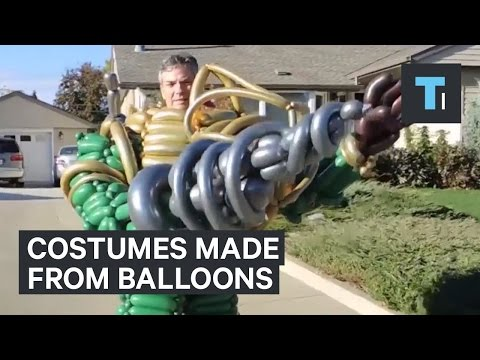 This artist makes mind-blowing costumes out of balloons