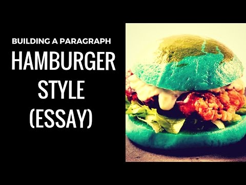Building a Paragraph - Hamburger Style (English - Essay)