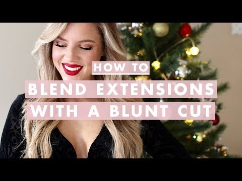 Holiday Hairstyle & How to Blend Extensions With a Blunt Cut