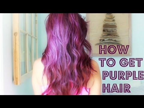 How I Dyed My Hair Purple! | Mustl0veshoes