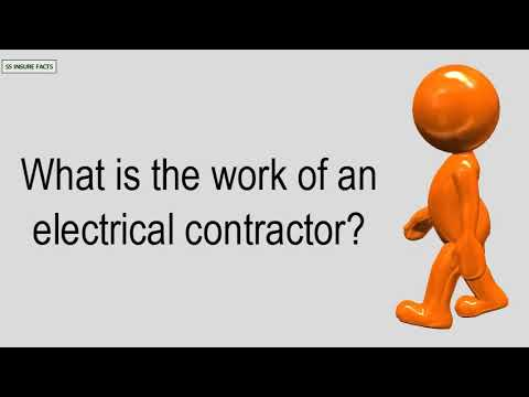 What Is The Work Of An Electrical Contractor