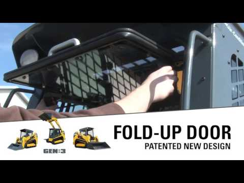 Fold Up Track Loader Door