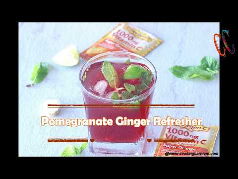 Pomegranate Ginger Refresher | Non Alcoholic drink | Virgin drink recipe