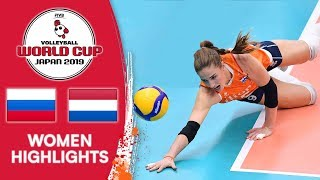 RUSSIA vs. NETHERLANDS - Highlights | Women's Volleyball World Cup 2019