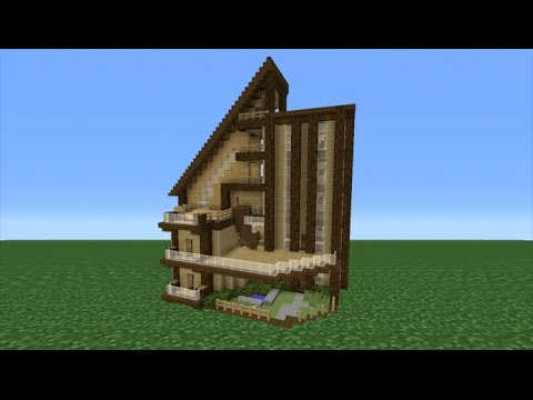 Minecraft Tutorial: How To Make A Big Wooden Mansion