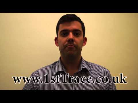 How to find a person| 1stTrace is the UK's leading tracing company with over 92% success rate