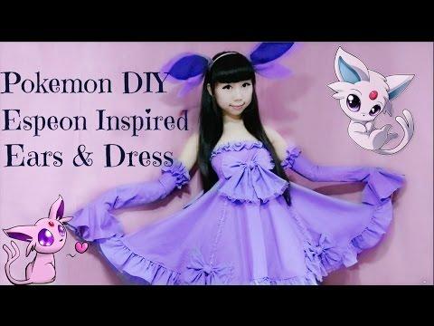 DIY Pokemon Dress/costume | Espeon Inspired Costume & Ears