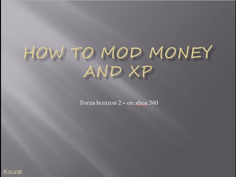 How to mod your money on forza horizon 2 (for xbox 360)
