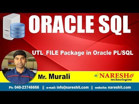 UTL_FILE Package in Oracle PL/SQL | Oracle SQL Tutorial | Mr.Murali