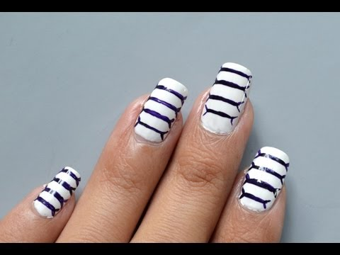 Easy Quick Nail Art - How to make your nails look bigger than they actually are