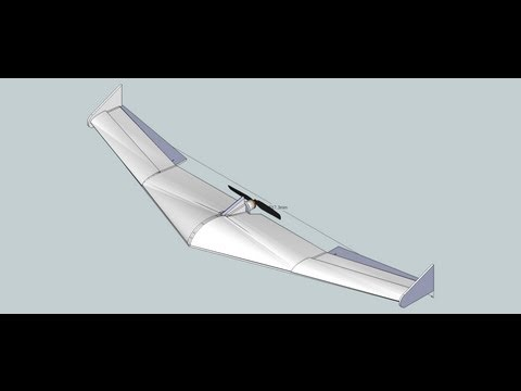 1500mm Flying Wing designed in Google Sketchup and how to create PDF plans from Sketchup