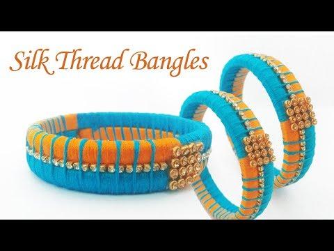 How To Make Designer Silk Thread Fancy Side Bangles in Tamil /How To Make Silk Thread Bangles