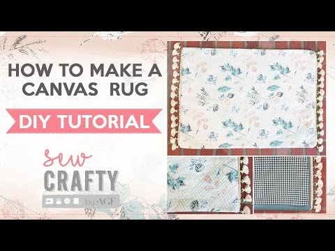 How to make a canvas rug!
