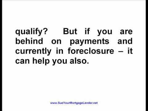 How to Sue Your Mortgage Lender, Reduce Your Principal Balance and Save Your Home