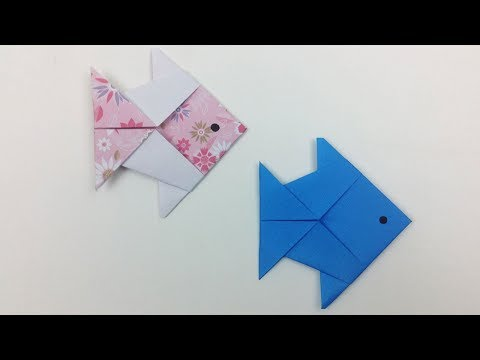 How to Make an Origami Paper Fish Step by Step Tutorial | Fish Origami 🐟 - Paper Folding Craft DIY