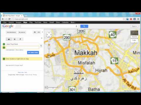 Searching To Makkah Via Google Maps From Malaysia.