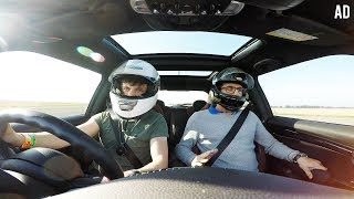 SCARING my DAD on a RACETRACK in MY CAR!