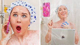 BATHROOM AND RESTROOM SURVIVAL GUIDE || Bathroom Hacks And Pranks You Can't Miss