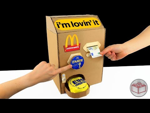 How To Make McDonald's McMuffin Machine With Cardboard