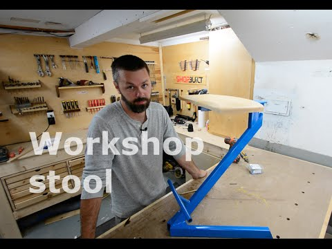 Shopbuilt - Metal/wood stool