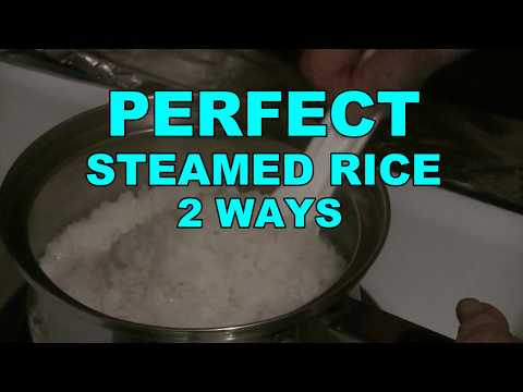 How To Cook Perfect Steamed Rice  (2 Ways To Make Perfect Rice)  Rice Cooking Secrets