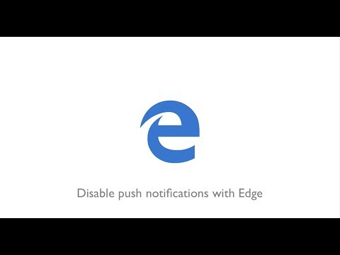 How To Disable Push Notifications With Microsoft Edge (Windows 10)