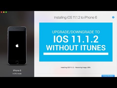 Upgrade or Downgrade to iOS 11.1.2 without iTunes | Getting ready for jailbreak