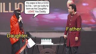 A.R. Rahman's Daughter Khadija's CUTE Speech Showing LOVE & Respect for Father @SlumDog Celebrations