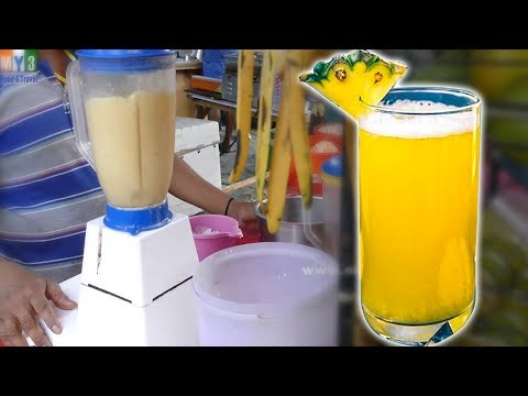 PINEAPPLE JUICE MAKING | HEALTHY STREET DRINKS IN INDIA street food