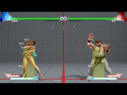Street Fighter V - Detailed tutorial on how to read hitboxes (Using Frame Trapped V)